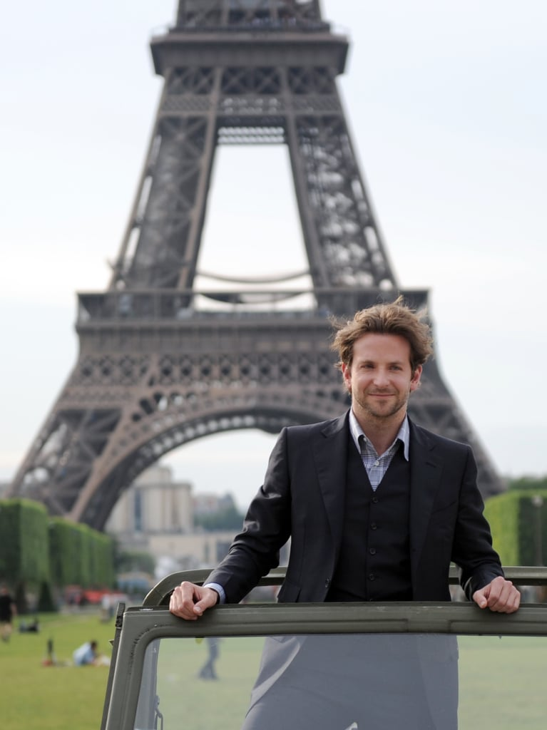 Bradley Cooper, who speaks fluent French, looks très chic in Paris in 2010.