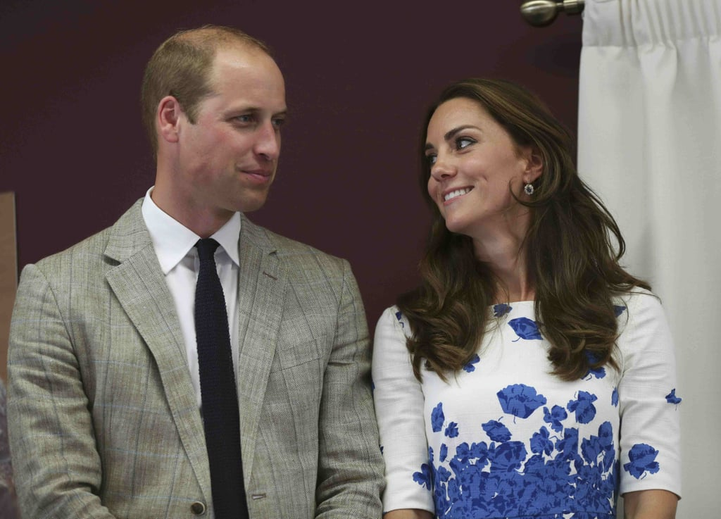 Kate was pretty much the heart eyes emoji when she and William stepped out in Luton, England, in August 2016.