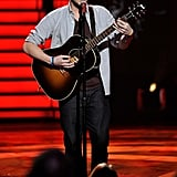 Phillip Phillips performed with his guitar.