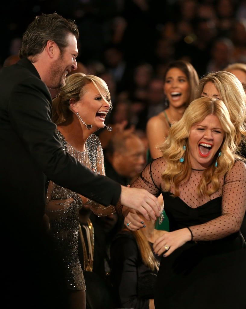Miranda Lambert and Blake Shelton showed their excitement after Kelly Clarkson's big win.