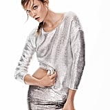 New Metallics Metallic Sweater ($40) and Reversible Sequin Skirt ($70)