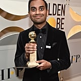 """All the websites said I was gonna lose."" — Aziz Ansari during his acceptance speech for best actor in a TV musical or comedy for Master of None."