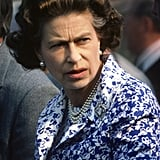 Queen Elizabeth II attends a polo match in 1985