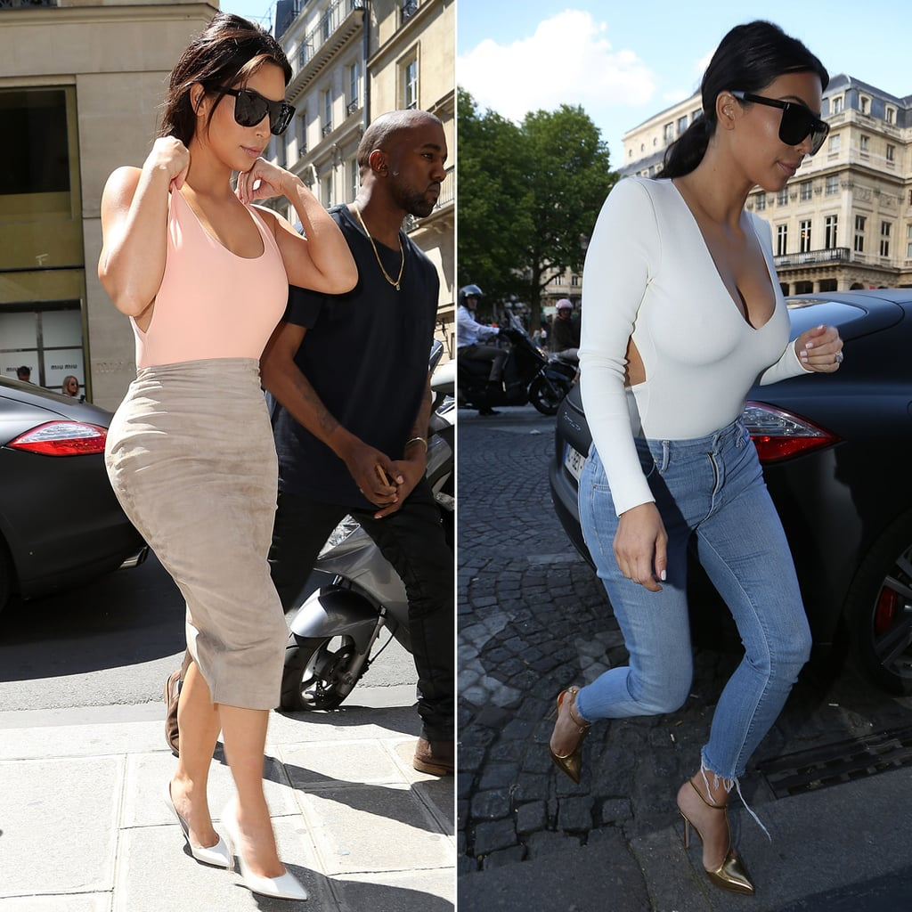 kim kardashian paris street style popsugar fashion