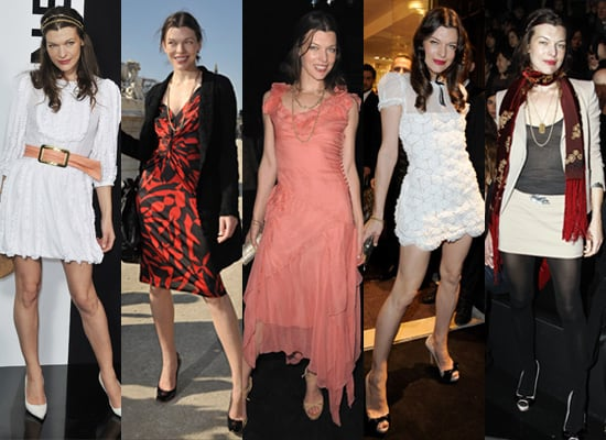 Milla Jovovich at Paris Fashion Week Autumn 2009