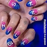 Dua Lipa With Ombré Nail Art