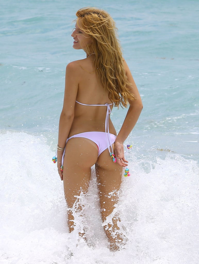 In May 2014, Bella Thorne wore a pink bikini during a trip to the beach in Miami.