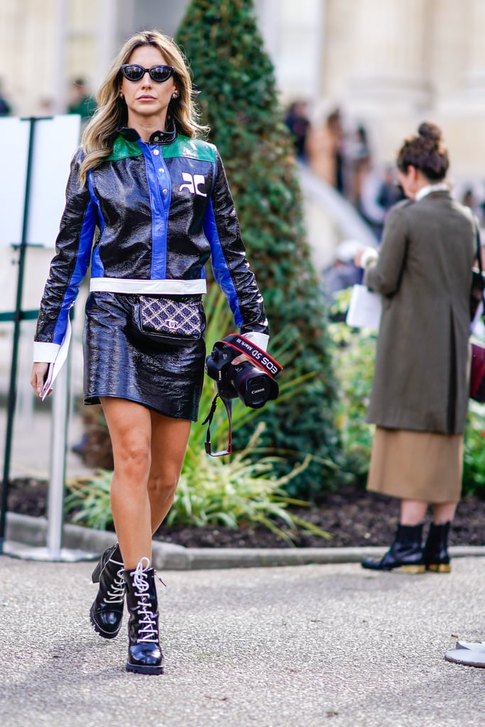 Style Your Leather Separates With a Matching Fanny Pack and Chunky Boots