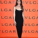 Lily Aldridge at the Bulgari Party at New York Fashion Week