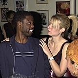 She chatted with Chris Rock backstage at a Sheryl Crow concert in NYC back in April 2001.