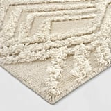 Cream Moroccan Wedding Shag Tufted Area Rug