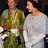 With Margaret Thatcher — the UK's first female prime minister — in 1979.