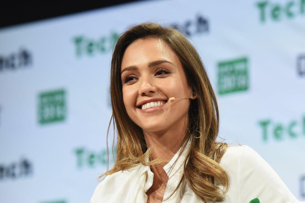 Jessica Alba at TechCrunch Disrupt