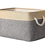 More Home Storage: Decorative Basket Rectangular Fabric Storage Bin