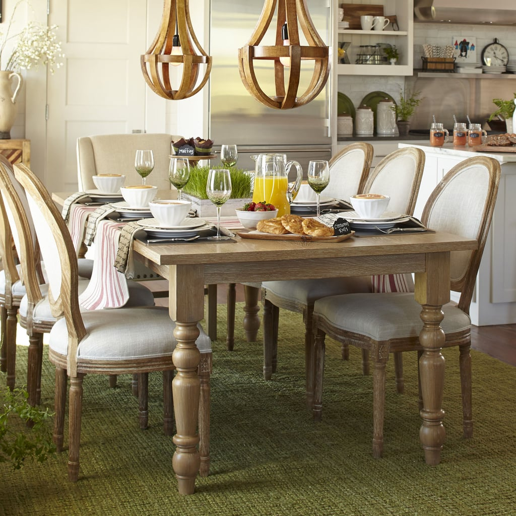 Natural Whitewash Turned Leg Dining Tables (from $330 ...