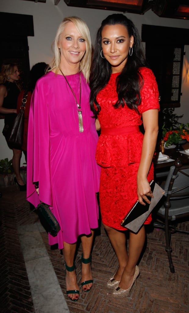 Naya Rivera posed with Linda Wells at Allure magazine's Look Better Naked issue launch party in LA.