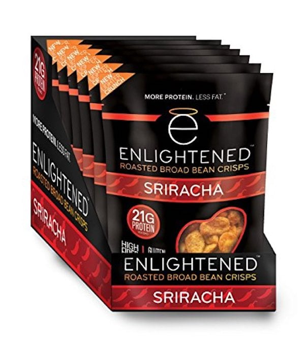 Enlightened Roasted Broad Bean Crisps, Sriracha