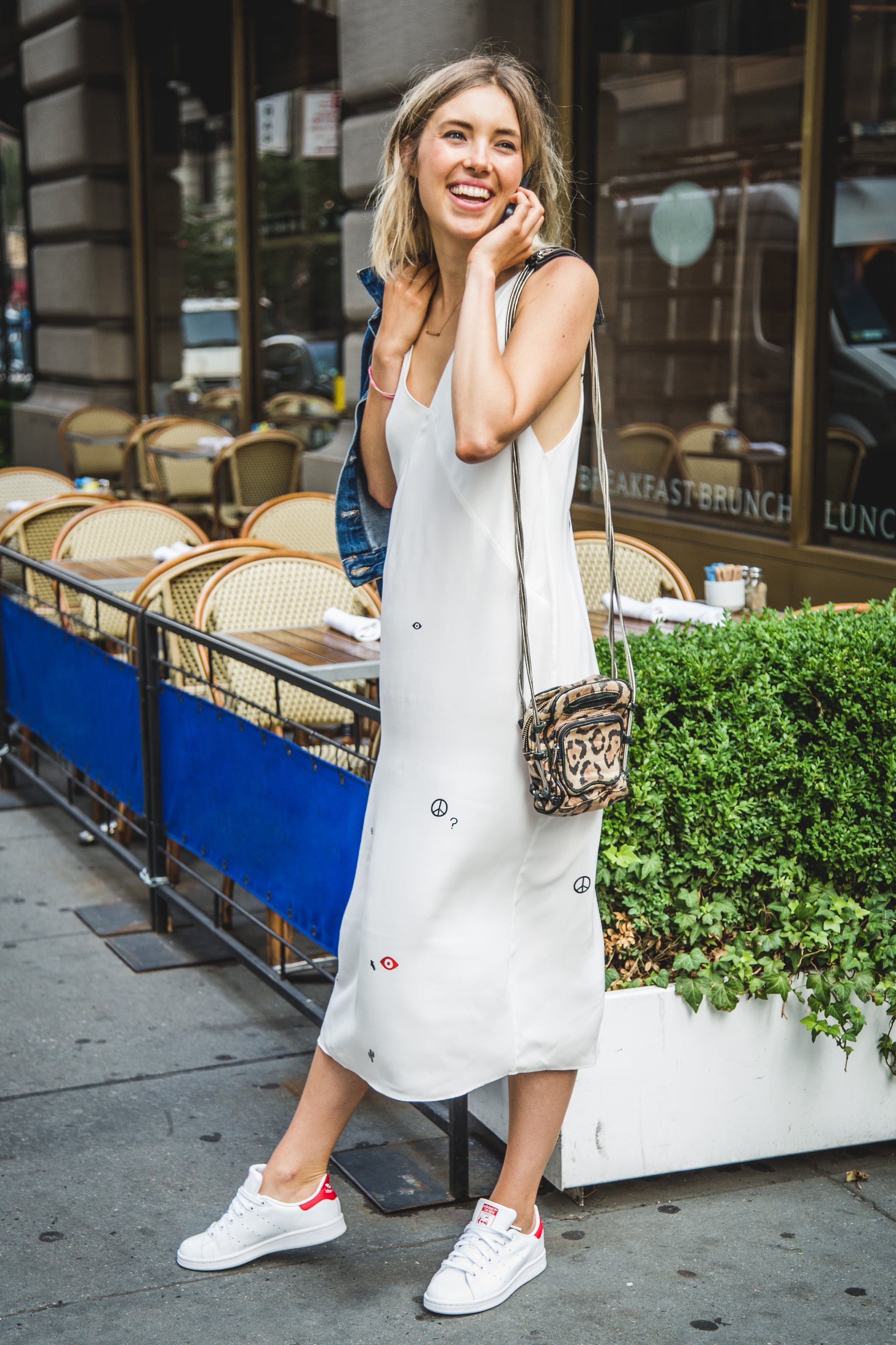 How to Wear a Dress and Sneakers