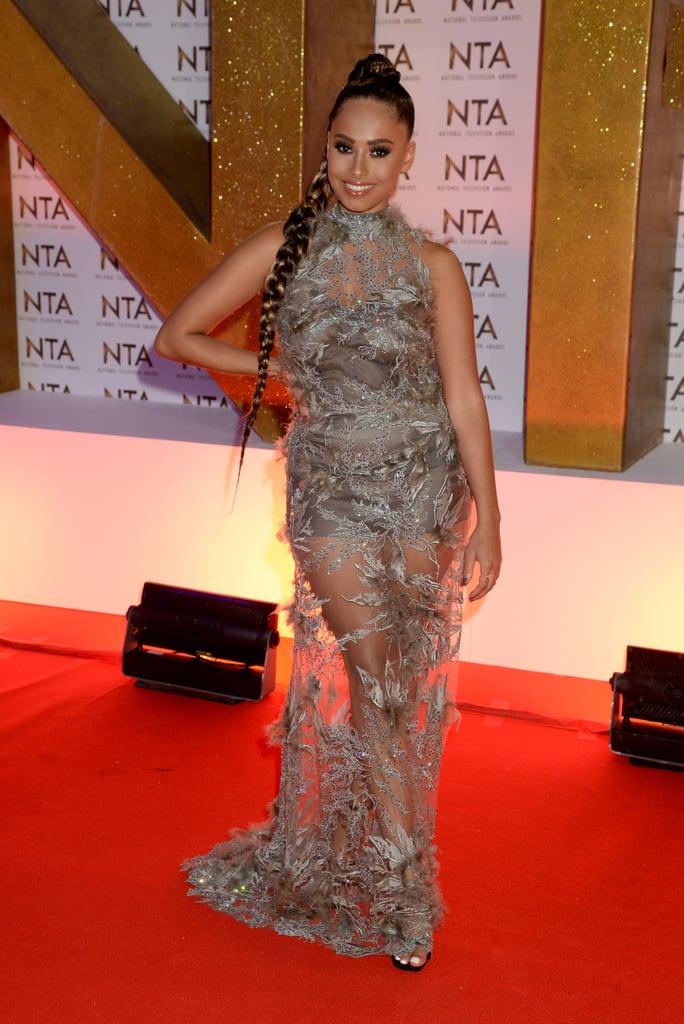 Amber Gill at the National Television Awards 2020