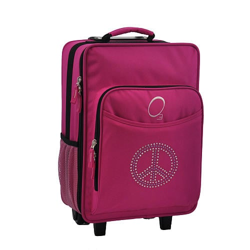 With a large main compartment, two drink pockets, and a front insulated cooler section, O3's Rhinestone Peace Luggage ($60) is a smart, practical pick.