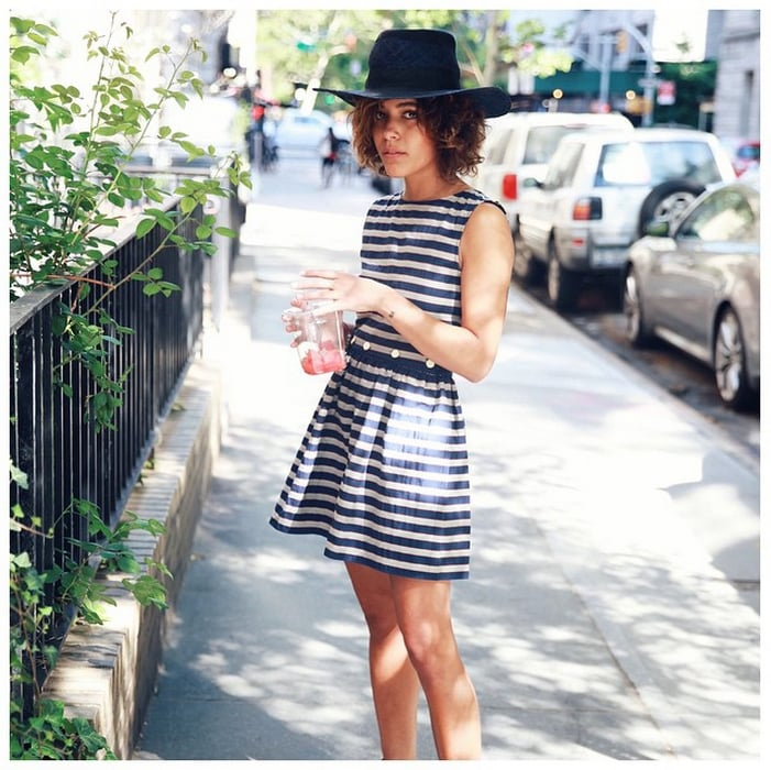 A Striped Cotton Dress and a Hat