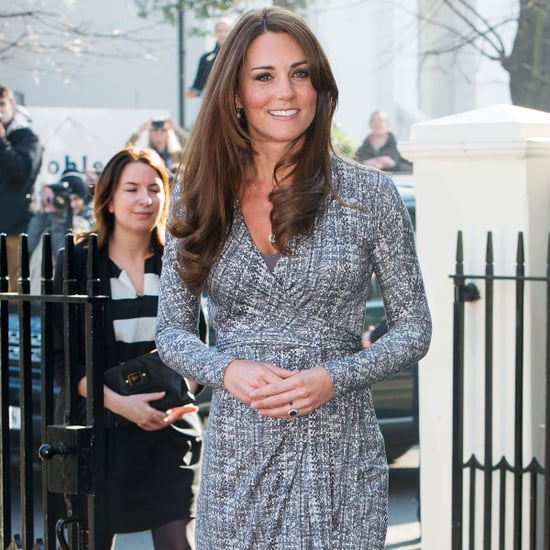 Pictures of Pregnant Kate Middleton in Max Mara Wrap Dress