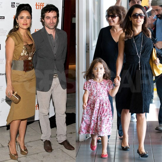 Salma Hayek Does TIFF With Her Americano Then Jets Back to LA With Valentina