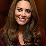 Kate Middleton looked lovely in red.