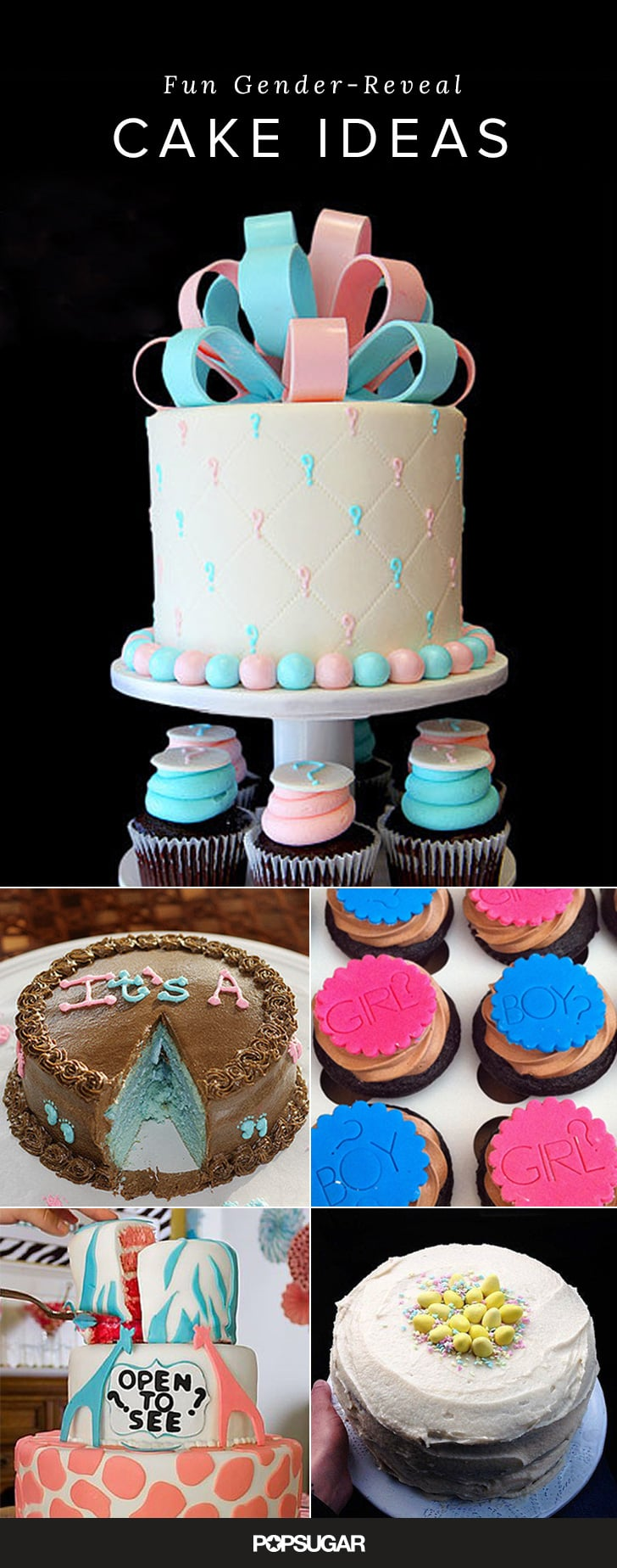 45+ Gender-Reveal Cakes to Inspire Your Big Unveiling