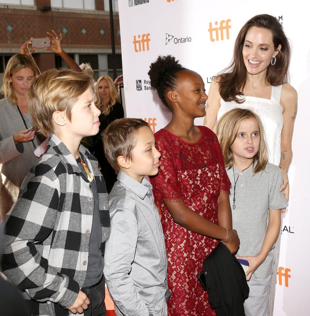Angelina Jolie and Shiloh, Knox, Zahara, and Vivienne ...