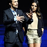 Mila Kunis and James Franco took to the stage at CinemaCon.