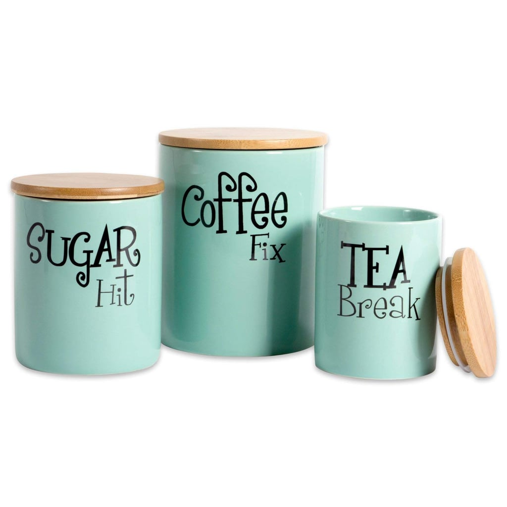 Ceramic Kitchen Canisters With Bamboo Lids