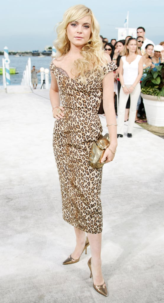 Lindsay Lohan Went With a Leopard Look
