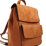 Faux Suede Backpack