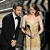 Emma Stone and Ryan Gosling at the 2017 Oscars