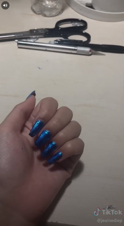 Finished Metallic Manicure