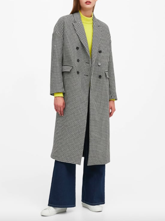 JAPAN EXCLUSIVE Houndstooth Double-Breasted Car Coat