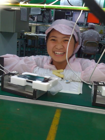 Daily Tech: Pics From Inside the iPhone Factory!
