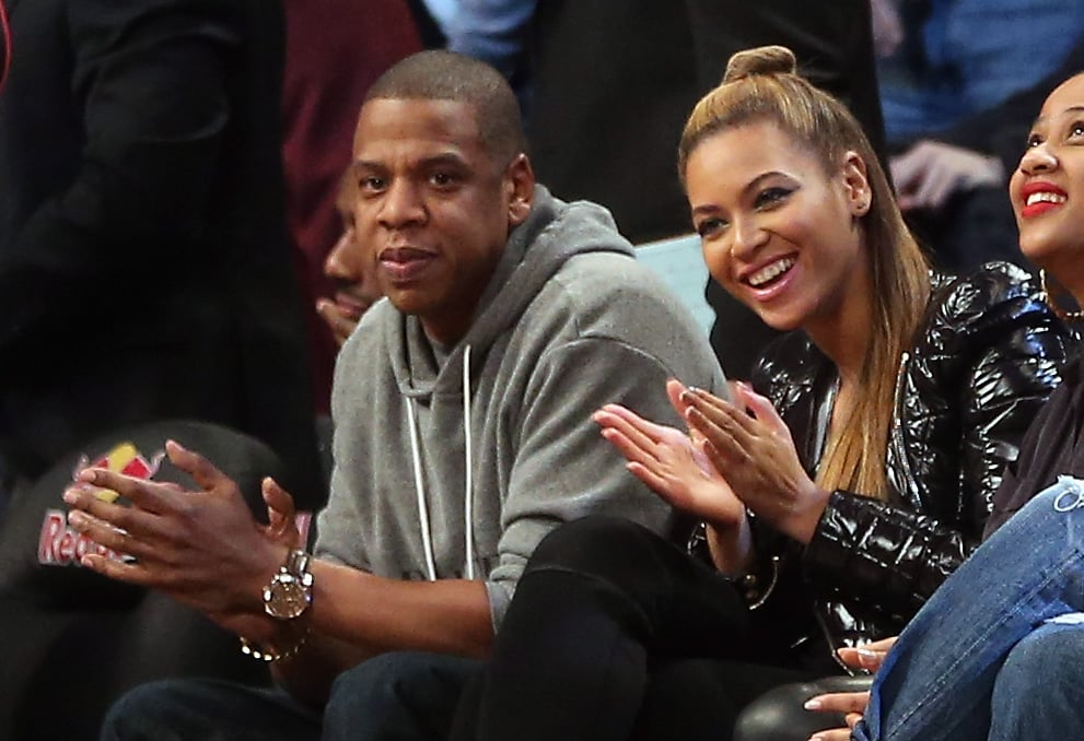 Jay-Z and Beyoncé took their usual courtside seats at a Brooklyn Nets game in November 2012.