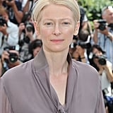 Tilda Swinton attended the Moonrise Kingdom photocall at the Cannes Film Festival.