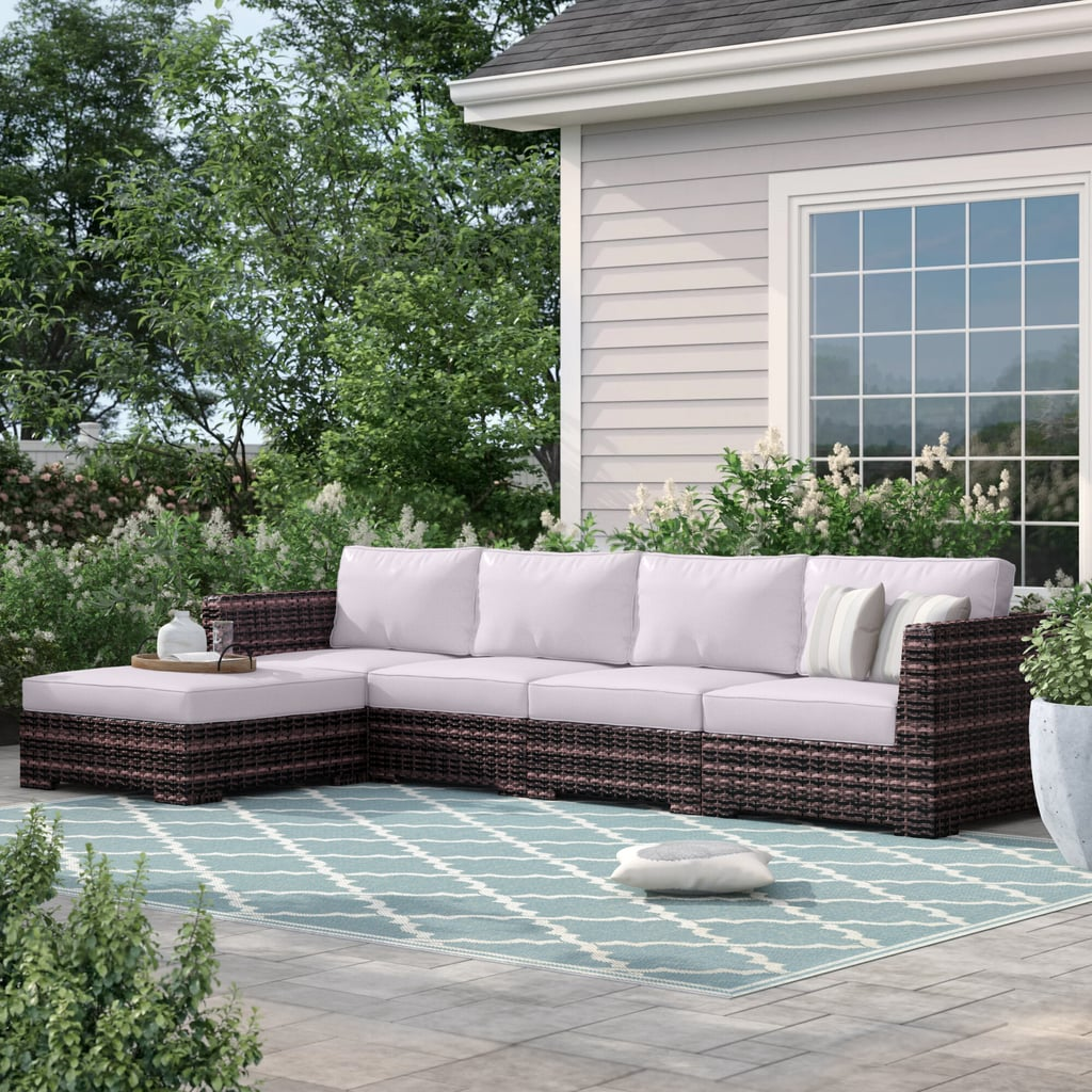 Sol 72 Outdoor Letona Resort Patio Sectional with Cushions