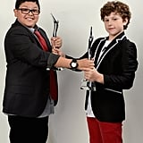 Rico Rodriguez and Nolan Gould joked around with their Scene Stealer awards.