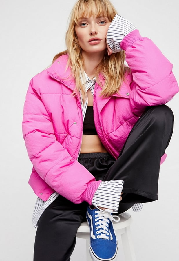 Free People Slouchy Cropped Puffer Jacket