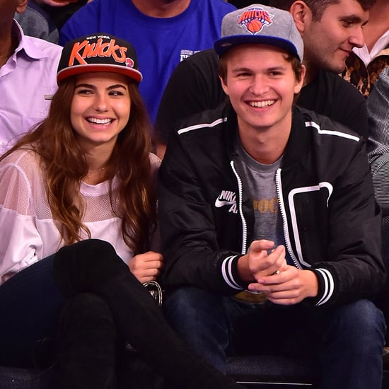 Ansel Elgort and Girlfriend at Knicks Game November 2015