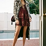 Unreal Fur Long Song Leopard Print Faux Fur Coat