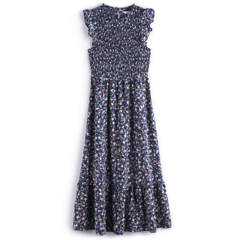 Ruffle Smocked Midi Dress