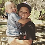 """""""Someone is really excited his brother is home from camp! Welcome home, Deacon! #brotherlove"""""""