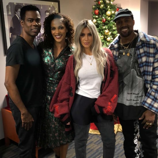 Kanye West and Kim Kardashian at Chris Rock's Comedy Show