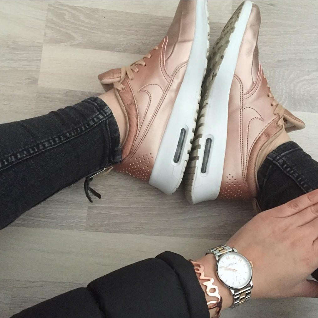Rose Gold Sneakers POPSUGAR Fashion