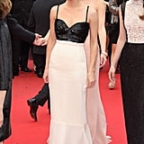 Emma kept it classic in a black-and-white Chanel column dress at the 66th Annual Cannes Film Festival in 2013.